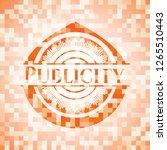 publicity orange mosaic emblem... | Shutterstock .eps vector #1265510443