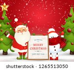 merry christmas. happy new year.... | Shutterstock .eps vector #1265513050