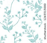 seamless pattern with hand... | Shutterstock . vector #1265515000