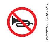 no horn sign vector | Shutterstock .eps vector #1265524219