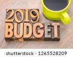 2019 budget word abstract in... | Shutterstock . vector #1265528209