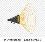 3d megaphone hailer  talking... | Shutterstock .eps vector #1265529613