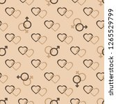 seamless pattern with gender... | Shutterstock .eps vector #1265529799
