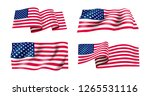 set of waving flag of the... | Shutterstock .eps vector #1265531116