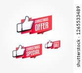christmas offer  christmas... | Shutterstock .eps vector #1265533489