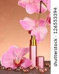 women's perfume in beautiful... | Shutterstock . vector #126553394