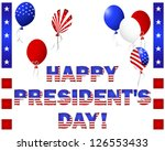 president's day. beautiful text ... | Shutterstock .eps vector #126553433