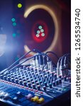 mixing console on the...   Shutterstock . vector #1265534740
