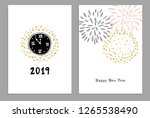 set of happy new year 2019... | Shutterstock .eps vector #1265538490