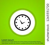 vector clock icon  | Shutterstock .eps vector #1265551720