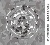 unusually on grey camo texture | Shutterstock .eps vector #1265557363