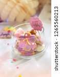 birthday cookies   detail of a... | Shutterstock . vector #1265560213