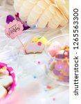 birthday cookies   detail of a... | Shutterstock . vector #1265563300