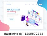 isometric online job search and ... | Shutterstock .eps vector #1265572363