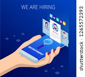 isometric online job search and ... | Shutterstock .eps vector #1265572393