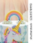 detail of a birthday unicorn... | Shutterstock . vector #1265578993