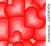 pattern heart pink | Shutterstock .eps vector #1265581426