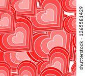 pattern heart pink | Shutterstock .eps vector #1265581429