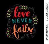 love never fails. motivational... | Shutterstock .eps vector #1265588530