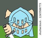 emoticon or emoji of medieval...   Shutterstock .eps vector #1265588773