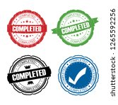 stamp completed set. | Shutterstock . vector #1265592256