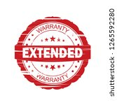 red extended grunge stamp on... | Shutterstock . vector #1265592280