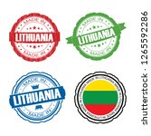 stamp made in lithuania label... | Shutterstock . vector #1265592286