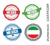 stamp made in mexico label set... | Shutterstock . vector #1265592289