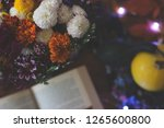 top view of a bouquet of... | Shutterstock . vector #1265600800