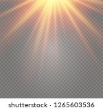 white glowing light burst... | Shutterstock .eps vector #1265603536
