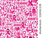 breast cancer awareness icon... | Shutterstock .eps vector #126561128