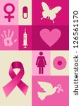 breast cancer awareness icon... | Shutterstock .eps vector #126561170