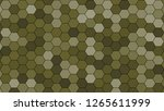 hexagonal grid pattern with... | Shutterstock . vector #1265611999