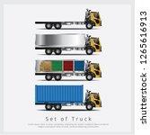 set of cargo trucks... | Shutterstock .eps vector #1265616913