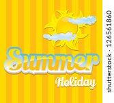 beautiful summer illustrations  ... | Shutterstock .eps vector #126561860