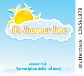 beautiful summer illustrations  ... | Shutterstock .eps vector #126561878