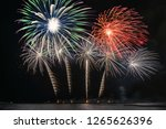 fantastic multicolor firework... | Shutterstock . vector #1265626396