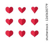 heart icons  sign of love ... | Shutterstock .eps vector #1265630779