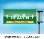 image of a glossy highway sign... | Shutterstock .eps vector #126563120
