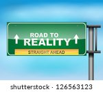 image of a glossy highway sign... | Shutterstock .eps vector #126563123