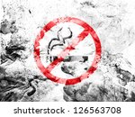 no smoking sign    painted... | Shutterstock . vector #126563708