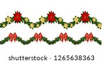 christmas horizontal seamless... | Shutterstock .eps vector #1265638363