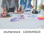 asian advertising designer... | Shutterstock . vector #1265645623