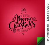 merry christmas inscription | Shutterstock .eps vector #1265647210