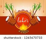 vector illustration of happy... | Shutterstock .eps vector #1265670733
