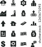 solid black vector icon set  ... | Shutterstock .eps vector #1265671093