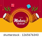 illustration of happy makar... | Shutterstock .eps vector #1265676343