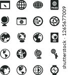 solid black vector icon set  ... | Shutterstock .eps vector #1265677009