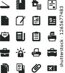 solid black vector icon set  ... | Shutterstock .eps vector #1265677483