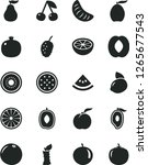 solid black vector icon set  ... | Shutterstock .eps vector #1265677543